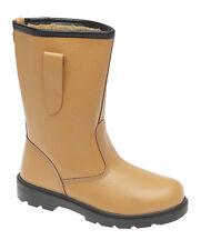 Mens Work Tan Black Waterproof Safety Rigger Boots Shoes Steel Toe Cap UK 3 -13