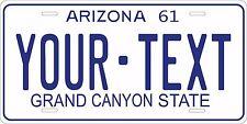 Arizona 1961 License Plate Personalized Custom Auto Bike Motorcycle Moped tag