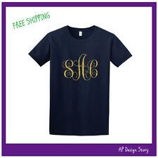 Monogrammed T-shirt / Glitter / Men's / Unisex / T-shirt / FREE SHIPPING