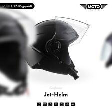 Casque Demi-Jet Vespa Scooter Quad Pilote ECE MOTO Helmets U52 Black XS S M L XL
