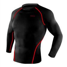 Take Five Mens Skin Tight Compression Base Layer Running Shirt S~2XL Black NT003