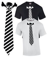T-shirt corbata tie Skull traje mosca ska punk rock calavera traje esmoquin