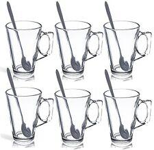 6/12/18/24 Vetro Tè Caffè Latte Cappuccino Occhiali TAZZE Coppe a base di erbe W cucchiai