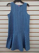 Girls Tommy Hilfiger $45.50 Blue Braid Pattern Soft Dress Size S(7) - XL(16)
