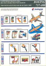 Safety Card - Malaysia - B737 400 - Dark Green (S2640)