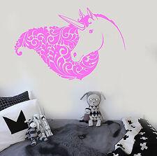 Vinyl Wall Decal Unicorn Head Girl Fantasy Room Stickers Mural (ig3684)