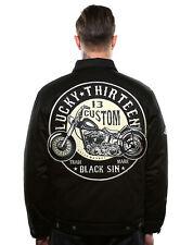 LUCKY 13 [THE BLACK SIN] JACKE JACKET ROCKABILLY GREASE GAS GLORY TATTOO LA INK