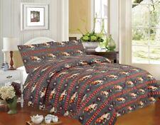 4 piece Running Horse Luxury Comforter Set