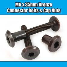 M6 x 115 mm NOIR meuble Connecteur Boulons Allen joint fixation lit bébé meuble table
