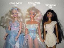 A CHOISIR PARMI 3 BARBIE: 2003 LAC DES CYGNES 1994 BUBBLE ANGEL 1995 POCAHONTAS