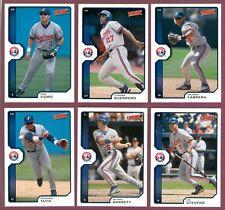 2002 Upper Deck Victory Montreal Expos Baseball CARD MLB SEE LIST