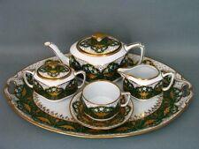 Fraureuth Kaffee Tee Solitär Dejeuner Tete a Tete Coffee Tea Set Service um 1900