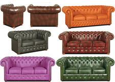 Chesterfield Sofa Ledersofa Couch Garnitur Polster Designersofa Leder Samt NEU