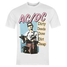 Official ACDC Dirty Deeds Done Dirt Cheap T-Shirt Mens White Tee Shirt Top