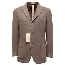 3996M giacca tortora uomo BURNETT COATS lana cachemire giacche men jackets