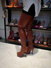 Women's Super High Heels Over The Knee High Thigh Boots Zipper Shoes Cosplay New