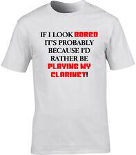 Klarinette Herren T-Shirt I'd rather be LUSTIG Geschenkidee Music Orchestra