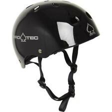 Pro-Tec Helmet Classic Skate Gloss Black Skateboard Protec Lid
