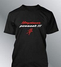 Tee shirt personnalise Hayabusa powaaah S M L XL XXL homme power GSXR moto