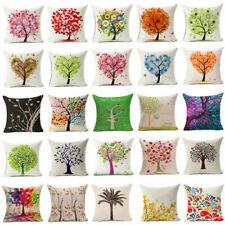 Flower Tree Cotton Linen Pillow Case Cushion Cover Fashion Home Decor Pillows