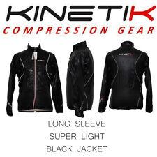 Mens Kinetik Black Super Light Long Sleeve Jacket 80% Microfiber  20% Elastane