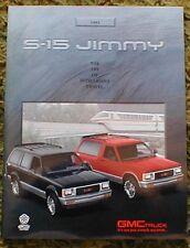 1991 GMC Jimmy Brochure S-15 91
