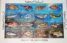 La Libye Libye 1983 zd 1138-53 MS 1107 fish poissons sea life des animaux marins MNH