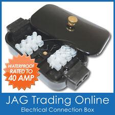 SMALL WATERPROOF ELECTRICAL CONNECTION BOX 40 AMP -Boat/Marine/Caravan/Car/Truck