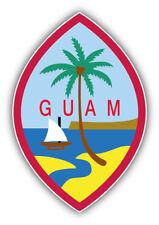 Guam Coat Of Arms Car Bumper Sticker Decal - 3'', 5'', 6'' or 8''