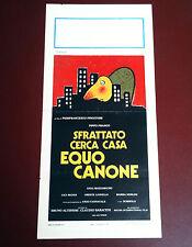 SFRATTATO CERCA CASA EQUO CANONE locandina poster Pippo Franco Bombolo X26