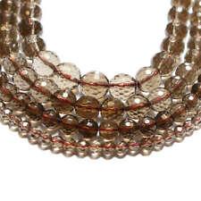 Rauchquarz Perlen facettiert 4 - 10 mm braun-transparente Kugeln *BACATUS* #4564