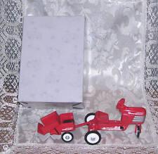 1999 Hallmark Kiddie Car Classic 1955 Murray Tractor Ornament Set Retired