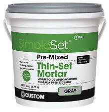 Custom Bldg Products Cttsg1-2 Gallon Gray Thin Set Mortar