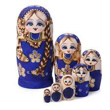 1-Set Russian Matryoshka Wooden Nesting Dolls Hand Painted Gift DIY Hand Paint