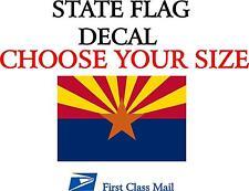 ARIZONA STATE FLAG, STICKER, DECAL, 5 YR VINYL