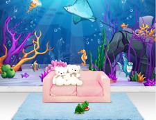3D Fond De La Mer 3 Photo Papier Peint en Autocollant Murale Plafond Chambre Art