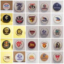 GOLF BALL MARKERS 24MM COLLINGWOOD, ST KILDA, GEELONG, FREEMANTLE,BRISBANE,SWANS