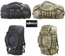 Army Combat Military Operators Duffle Kit Bag Travel Holdall Rucksack Black Camo