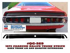 QG-269 1972 DODGE CHARGER - RALLYE TRUNK STRIPE - DECAL KIT