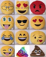"""Emoji emoticono Juguetes de Peluche de 13"""" ronda Cojín Almohadas"""