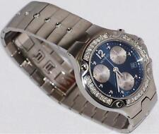 New Mens movado se  S E blue 0605154 1.00ct. aprx.custom set real Diamond watch