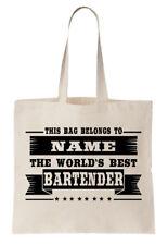 Personalizado Bolsa Shopper del mundo mejor camerero Bar regalo fresco Bebida