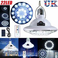 LED Shed Solar Light Bulb Lamp Hooking Outdoor Indoor Garden Lighting Remote UK