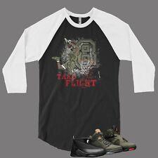 T Shirt to Match Air Jordan 8 Sneaker Pro Club Graphic Baseball Tee Black White