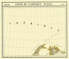 Old State Map - Alaska Southern Part No.13 - Vandermaelen 1827 - 23 x 26.77
