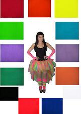 Rainbow Waterfall Long Length 7 Layer Tutu Skirt 1980's Accessories Fancy Dress