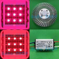10W Deep Red 625nm ~660nm LED Lamp Light Bulb Plant Aquarium + AC/DC Driver