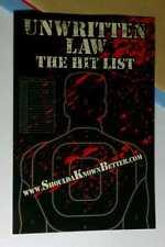 UNWRITTEN LAW THE HIT LIST SHOULDAKNOWNBETTER .COM MINI POSTER POSTCARD STICKER