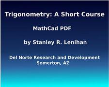 Trigonometry: A Short Course  (Lenihan)  MathCad PDF