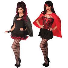 Halloween Red Black Cape Cloak Super Hero Vampire Fancy Dress costume outfit
